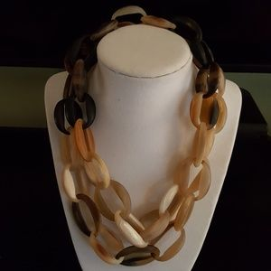 """36"""" water buffalo horn Chain necklace by Ha Harley"""